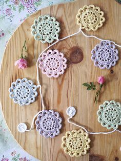 Crochet garland xo