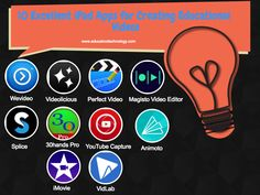 10 Excellent iPad Apps for Creating Educational Videos ~ Educational Technology and Mobile Learning Educational Websites, Educational Technology, Flipped Classroom, Art Classroom, Best Ipad, 21st Century Skills, Instructional Technology, Teaching Social Studies, Mobile Learning