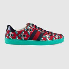 Gucci Men Ace bee jacquard low-top sneaker