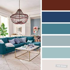 The Best Living Room Color Schemes – Grey & Teal Color Scheme - Fabmood | Wedding Colors, Wedding Themes, Wedding color palettes