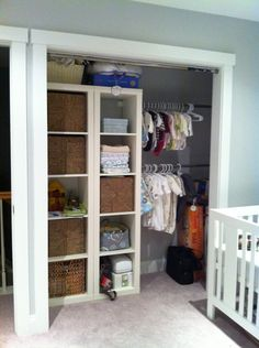 Love the simple storage/closet space that works into toddler years