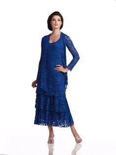 Latest Design Royal Blue Mother of the Bride Lace Dress with Jacket 2015 Elegant Mother Dress A Line Vestido De Festa MM445
