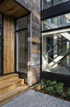 Zen Barn-10-1 Kindesign....rustic, reclaimed wood exterior but modern interior