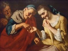 The Fortune Teller by Gaspare Traversi, Italian 1760, oil on canvas