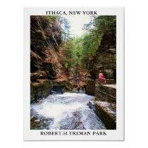 ITHACA, NEW YORK, ROBERT.H.TREMAN PARK poster by JHaydenphotography