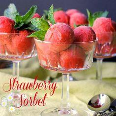 Strawberry Sorbet | Terri @ That's Some Good Cookin'
