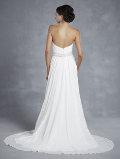 Beautiful by Enzoani available at Uptown Bridal and Boutique - www.uptwonbrides.com BT15-24 Back view