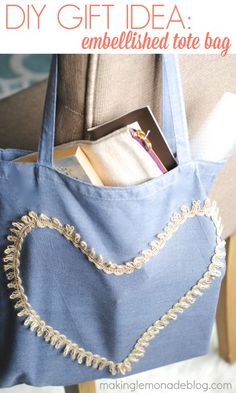 Mother's Day Gift Idea: Hand Dyed Embellished Tote #ThisisStyle #shop #cbias