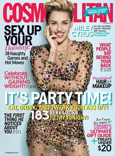Miley Cyrus In Cosmopolitan December 2013