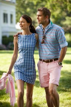 Preppy perfection. I really want this dress!