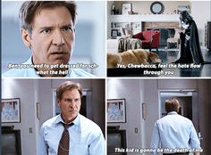 I envision Harrison Ford as the dad from Calvin and Hobbes Star Wars Meme, Star Wars Art, Star Trek, Stephen Hawking, Starwars, Han And Leia, Dc Memes, Movie Memes, Funny Memes