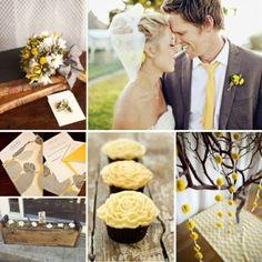 Grey and yellow wedding by kathrine
