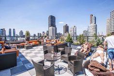 Rooftop terrace in Manhattan