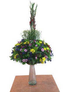 arreglo floral fenix estilo circular, especial para lobbies y recepciones