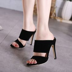 Cheap pumps black, Buy Quality open toe pumps directly from China thin heels Suppliers: 2017 Newest women open toe pumps black flock roman Gladiator high heels mules shoes womens summer thin heel sandals slippers