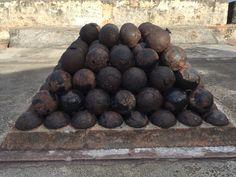 Cannon Balls Fort San Cristobal, Puerto Rico