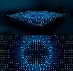 light installation - interesting waving surface