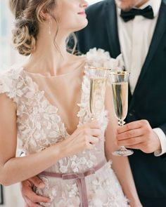 """Style Me Pretty on Instagram: """"Cheers to love, this romantic @madebride gown, and a wedding photographer who focuses on emotion and elegance. 🥂 Listen up, authentic and…"""""""