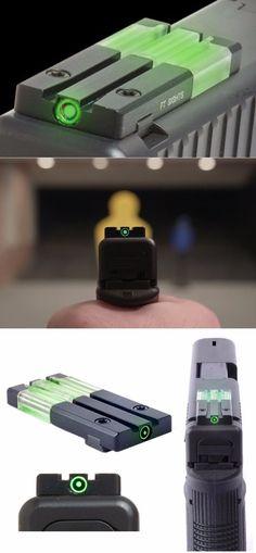 MAKO Meprolight Self-Illuminated Fiber-Tritium Bullseye Circle Dot Rear Handgun Firearm Pistol Sight for Glock @aegisgears