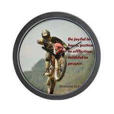 Mom needs this reminder if her kid loves motorcross! Great Christian wall decor for the motorcycle fan. Motorcross Prayer Wall Clock > Motorcross > Christian Kid
