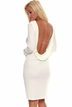 cab1f08ccce Anaconda White Open Back Mini Dress (Size M and L) Black Party Dresses