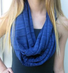 Infinity Scarf Midnight Blue Blue Scarf by DiscoLemonadeDesigns, $19.99
