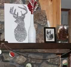 Sparkly Reindeer on Mantle