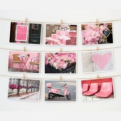 Paris Postcard Collection Pink, $12.50, now featured on Fab.