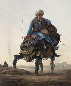 ArtStation - Old wanderer (personal artwork), Sergey Vasnev