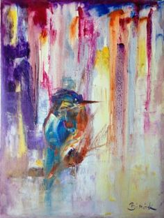 abstract bird painting series.....Kingfisher