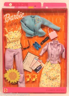 New Barbie Fashion Avenue Mix 'N Match Styles Clothes Doll Clothes 2000   eBay