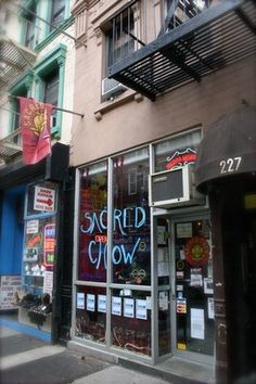 SACRED CHOW...  Just ate here tonight and it was one of the best VEGAN experiences we've had. WOW...is all I can say....grilled nori goba....veggie latkes....apple/ berry crumble with coconut vegan whip cream... I will go to the VILLAGE just for this