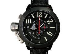 Militär XXL Retro-Taucher Chronograph verschraubte Kronenkappe: Amazon.de: Uhren