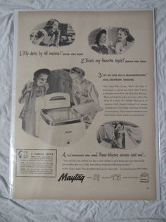 Vintage Maytag Advertisement by Retrolane91 on Etsy, $4.00