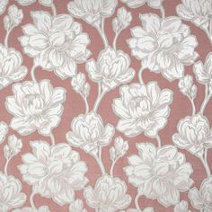 Floral Fabric by Fibre Naturelle, Fabric for Upholstery, Home Decor, Bedding, Roman Blinds, Curtains, Craft Projects Curtain Material, Curtain Fabric, Floral Fabric, Linen Fabric, White Linen Curtains, Roman Blinds, Blinds Curtains, Types Of Roses, Made To Measure Curtains