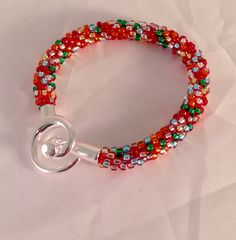 Billie's Kumihimo with beads bracelet