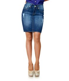 Defossile Blue Denim Skirts