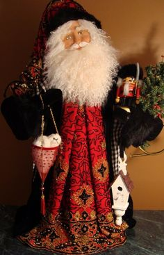 The Santamaker's Collection Father Christmas, Christmas Art, Handmade Christmas, Christmas Holidays, Christmas Decorations, Christmas Ornaments, Christmas Mantles, Christmas Scenes, Christmas Christmas