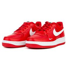 9fd442b81e0382 Nike Boys Air Force 1 Low Basketball Sneaker University RedWhiteBlack 65Y     Visit the image