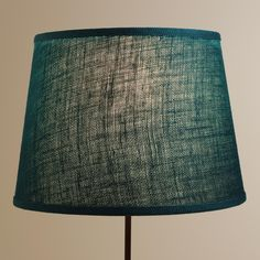 Teal Burlap Table Lamp Shade | World Market