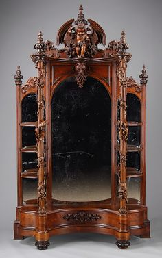 Charming Victorian Renaissance Revival Furniture *Antique Rosewood Etagere  Attirbuted To John Belter