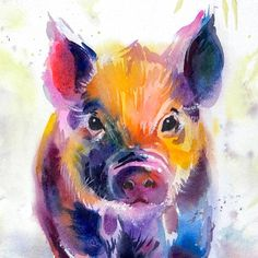I publish a new video tutorial every Friday all of them are dedicated to water media techniques and materials. The next one on painting candlelight with watercolor is coming tomorrow. Meanwhile check out this piggy portrait being painted - it's the second most watched video on Tummy Rubb Studio's YouTube channel - active link in my bio! . . . . #tummyrubbstudio #artclass #lovepigs #watercolorsketch #paintincats #animalpainting #drawingpets #paintingpets #watercolor #watercolorpainting…