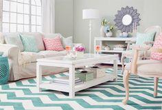 Sala en colores pasteles. #home #deco
