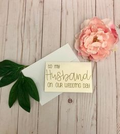Tell your new husband what he means to you when you send him a sweet card on your wedding day! Many couples choose to give each other a gift, or just a heartfelt note, on their wedding day. Use this white, pearlescent card (5 x 7) to share your love. Blank inside so there is plenty of