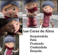 Las caras de Alma: Reviewing Emotions in Spanish