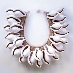 Tribal shell necklace from Bali, Indonesia