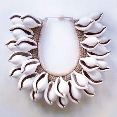 Balinese Treasure — Abby L. Tribal Necklace, Tribal Jewelry, Diy Jewelry, Jewelery, Handmade Jewelry, Jewelry Making, Shell Jewelry, Shell Necklaces, Shell Schmuck
