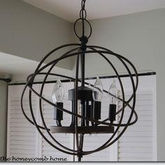 knockoff restoration hardware orb chandelier
