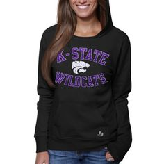 Kansas State Wildcats Ladies Year Round Pullover Hoodie - Black