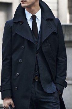 Navy blue reefer jacket